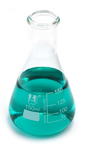 10PK Erlenmeyer Flasks, 150ml