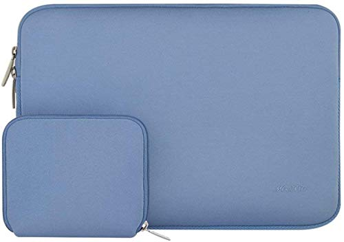 MOSISO Wasserabweisend Neopren Hülle Sleeve Tasche Kompatibel mit 13-13,3 Zoll MacBook Pro, MacBook Air, Notebook Computer Laptophülle Laptoptasche Notebooktasche mit Kleinen Fall, Serenity Blau