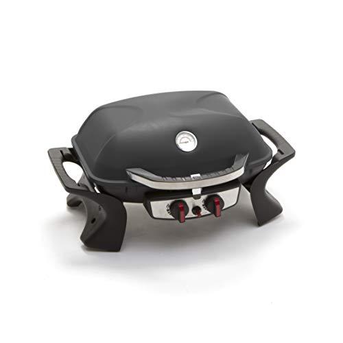 GS1 Svizzera Barbecue per casa e Giardino Alimentato a Gas con 2 fuochi e termostato