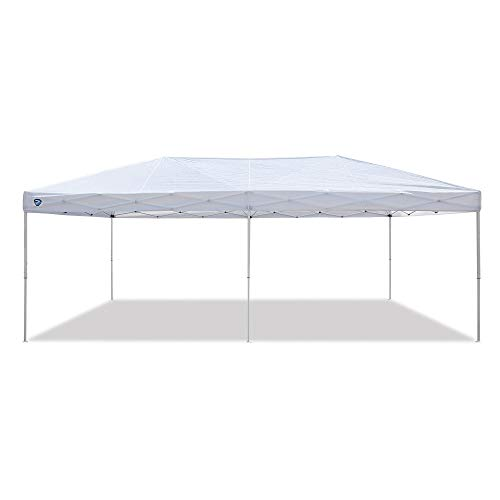 Z-Shade ZS2010EVTS-6 20 by 10 Foot Instant White Pop Up Event Canopy Tent Emergency Shelter for Outdoor and Indoor Use, 200 Square Foot Coverage