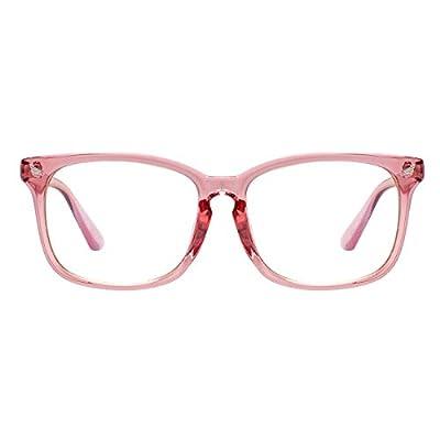 Maxjuli Blue Light Blocking Glasses,Computer Reading/Gaming/TV/Phones Glasses for Women Men(Pink)