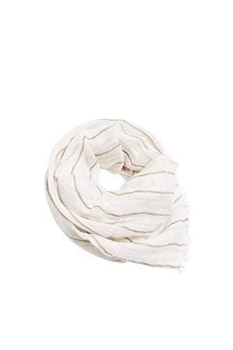 ESPRIT Accessoires Herren 030EA2Q302 Mode-Schal, 110/OFF WHITE, Einheitsgröße