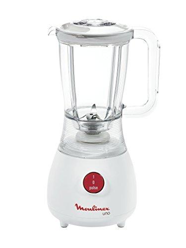 Moulinex Uno Blender Frullatore, 350 W, 1.25 Litri, Plastica, Bianco