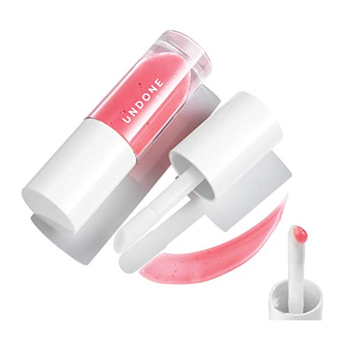 Moisturizing Tinted Lip Gloss-Balm Hybrid with Long Wear Lightweight Formula - UNDONE BEAUTY Poppa Lip Gloss. Cloudberry Seed Oil Extract for Lip Nourishment & Conditioning. WATERCOLOR ROSE