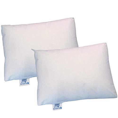 Euroallergy Superior | Set De 2 Fundas AntiAcaros Certificadas para Almohada | Transpirables, Sin Plástico | Varias Medidas Disponibles (45 x 90 cm.)
