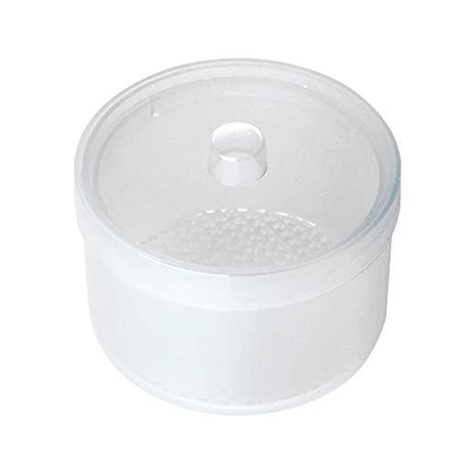 Coton-Pad Distributeur Acrylique Rangement Maquillage CosméTique BoîTe à Coton Ronds Rangement Maquillage Acrylique Transparent Pour Coton Tige Et Coton 88X88X67mm rose