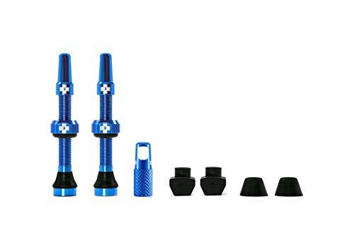 Muc Off 1056 Valvola tubeless, Blu, 44mm, Set di 2