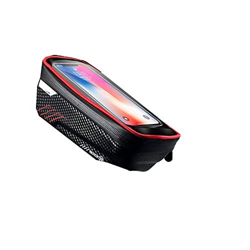 LHQ-HQ Bolsa para Bicicleta con Marco Frontal para Teléfono Bolsa para Bicicleta Funda Impermeable para Bicicleta Compatible con Teléfonos Celulares De Menos De 6.5'con Pantalla Táctil
