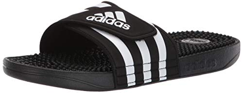adidas Women's Adissage Slide, Black/White/Black, 10 M US