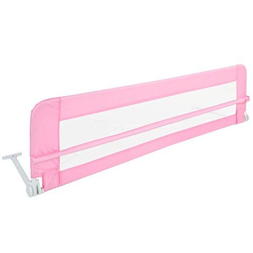 Barrera de cama para niños pequeños – plegable, portátil, plegable, 102 42 cm o 150 42 cm