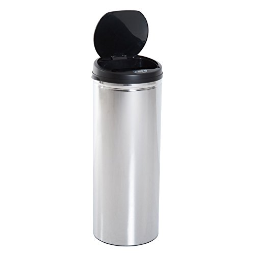 HOMCOM Edelstahl Automatik Sensor Mülleimer Abfalleimer IR Sensor mit/ohne Inneneimer rund 50 L