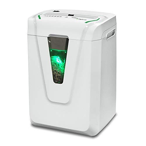 KOBRA Hybrid-S Distruggidocumenti Professionale a Frammento per Uso Personale o Piccoli Uffici con Hybrid Power Management System, 37x26x50 cm, Bianco