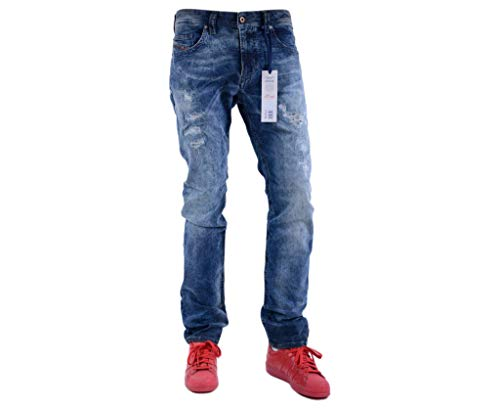 Diesel Thavar-NE 0607W Herren JoggJeans (32W, Blau)