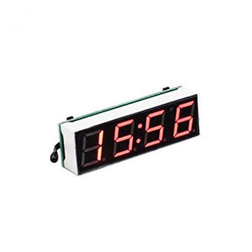 NXSP 3 in 1 Auto Voertuig Digitale Buis LED Voltmeter Thermometer, Tijd Automobile Tafelklokken Wijzerplaat Elektronische Klok
