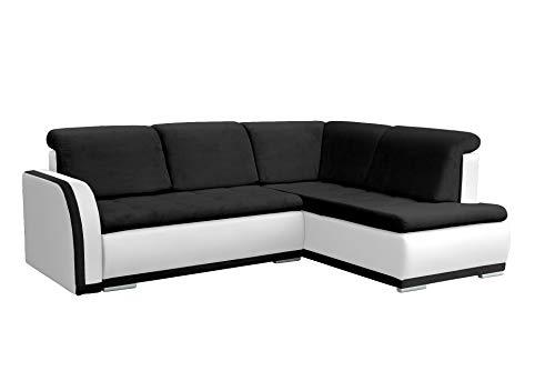 mb-moebel Ecksofa Sofa Eckcouch Couch mit Schlaffunktion und Bettkasten Ottomane L-Form Schlafsofa Bettsofa Polstergarnitur - VERO II (Ecksofa Rechts,...