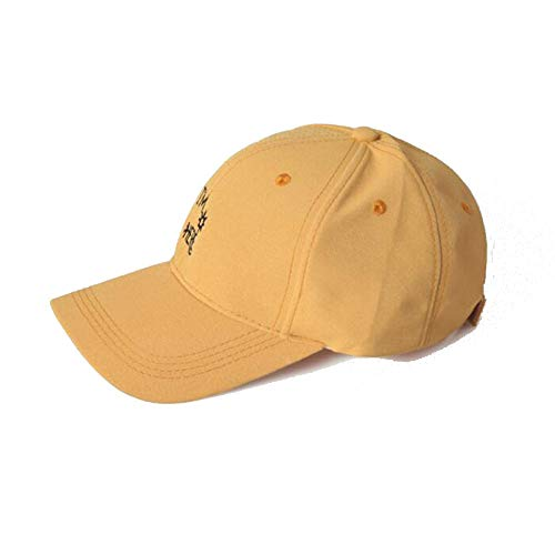 Best Deals! Hat Male Lady Summer Cap Casual Street Couple Letters Baseball Cap (Color : Yellow)