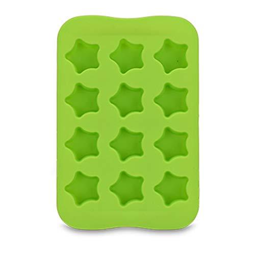 LDH Bandeja de Hielo de Silicona de 12 Celdas, 4 Paquetes Son Suaves Cubiteras para Hielo Silicona La Bandeja de Hielo Se Puede Reutilizar, Duradera, Fácil de Liberar, Fácil de Limpiar (Color : A)