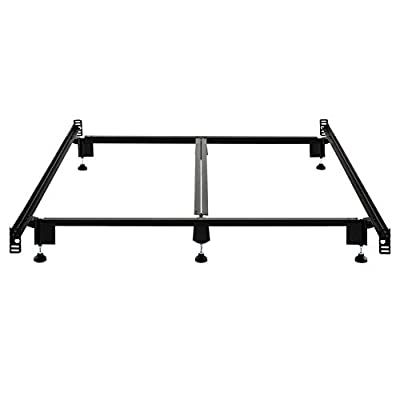 MALOUF Structures STEELOCK Headboard-Footboard Super Duty Steel Wedge Lock Metal Bed Frame with Adjustable Height Glides - Functions as Bed Rails
