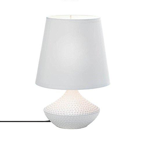VERDUGO GIFT 10016957 Pebble Lámpara de mesa de playa, 60 W, color blanco