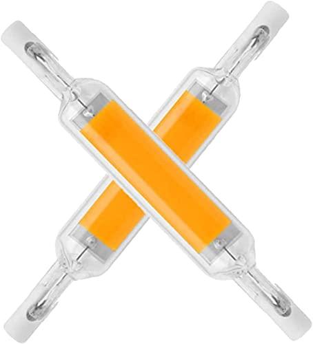 MXSXN Bombilla LED COB R7S, Tubo De Vidrio, 78MM, 10W, Lámpara Halógena De Repuesto, 1200W, J78, Foco De Diodo Lamparda, CA, 220V, 110V, Novedad,Warm White