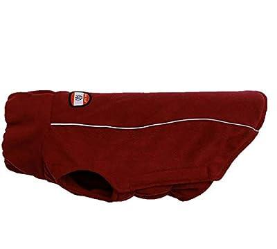 Morezi Dog Clothing Soft Polyester Fleece Pet Dog Vest Elastic Chest Girth Coat Waistcoat Winter Warm Clothes - Red - L