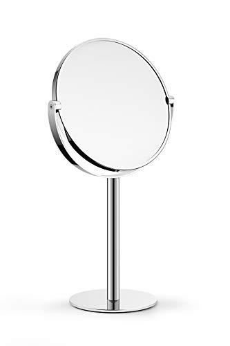 ZACK OPARA Kosmetikspiegel, hochglänzend, schwenkbar, Einheitsgröße, silberfarben