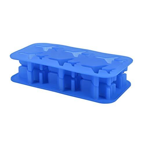 XJJZS 1 unids Molde de Torta Grande 3D Aviones de Silicona 6-Cavidad DIY Fabricante de Hielo para Uso doméstico Herramientas de Crema para el hogar 20cm * 9,8 cm