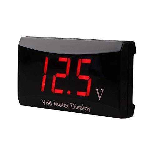 Linkstyle Auto Digital Voltmeter Anzeige DC 12V LED Wasserdicht Spannungsprüfer Autobatterien Messgeräte für Auto Motorrad