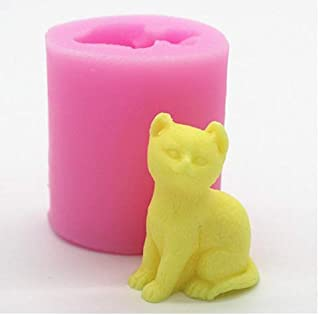3D Kitten Candle Mold - MoldFun Small Size Cute Cat Silicone Mold