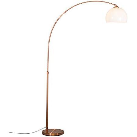 QAZQA arc-basic - Lampe arquée Moderne - 1 lumière - H 1700 mm - Cuivre - Rustique,Moderne - Éclairage intérieur - Salon