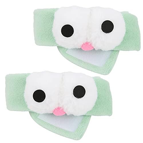 Diadema de spa, 2 diademas faciales lavables de ojos grandes de dibujos animados bonitos para ducha para deporte para spa para cuidado de la piel