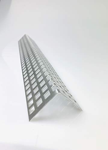Lochblech Alu Winkel QG 10-15 Winkelprofil 1,5mm Länge 1000mm, Individuell nach Maß (Schenkel: 40mm x 40mm)