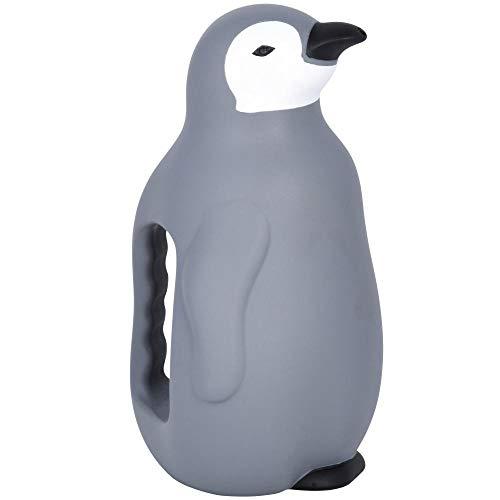 Rivanto® Gießkanne Pinguin aus Kunststoff, blau, Garten Gießkanne, 15,5 x 12,4 x H23,1 cm