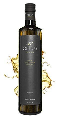 PREMIUM OLIVENÖL - Kaltgepresst | GRIECHENLAND | Zum Kochen / Braten | EXTRA VIRGIN (Vergine) | OLEUS | mild, fruchtig | 100% Koroneiki - Oliven | Messinia | Geschenk | 750ml Glas-Flasche