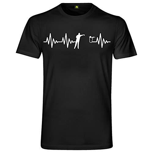 Herzschlag Bier Pong T-Shirt | EKG | Bierpong | Beer | Beerpong | Party Alkohol Schwarz 3XL