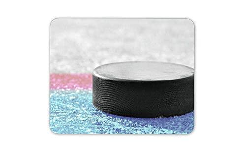 Mauspad Eishockey Puck Mauspad Pad - Teenager Jungen Eisläufer Geschenk Mousepad für Laptop Desktop Computer Bürobedarf Mauspad