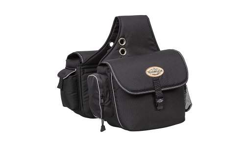 Weaver Leather Trail Gear Saddle Bag, Black