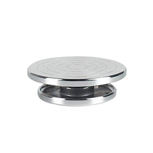 Torno De Alfarero 12/15 cm de doble cara Use la placa giratoria de la aleación de aluminio para la plataforma de cerámica de la plataforma de la escultura de la plataforma de la alfarería con las herr