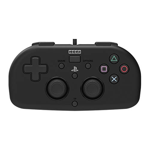 PS4 Mini Wired Gamepad (Black) by HORI - Officially Licensed by Sony