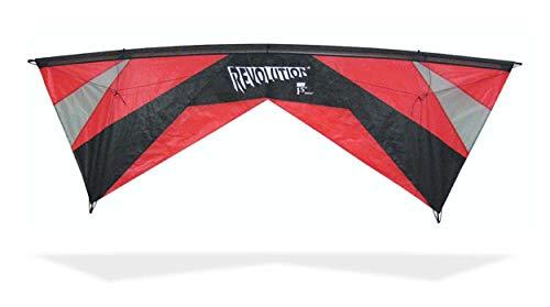 Revolution Kites Reflex Lenkdrachen Expérience, EXP Blk, Red/Grey/Black
