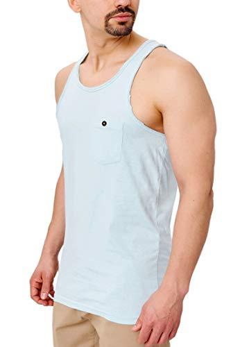 Indicode Herren Drysdale Tank-Top aus 100{b66ba65ee13f76d784334352bdcdbd9aff6057ca1a916785eeb005c99a5cfd33} Baumwolle | Regular Fit Herren-Shirt Rundhals Sport Fitness Muskelshirt Training Achselshirt ärmellos Freizeit Shirt Unterhemd für Männer Surf Spray XXL
