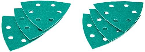 Norton Delta Expert Schleifpapier-Zuschnitte, Körnung: 80, 9,5cm, 14Stück
