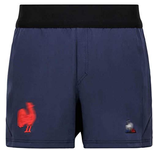 DSDFD 2021 Frankreich Letztes Rugby-Trikot Gesticktes Rugby-Shirt und Shorts für Männer Frauen Jugendpolo Kurzarm-Rugby-Anzug, S-XXXXXL XXXXL shortsA