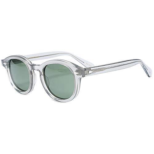 SHEEN KELLY Johnny Depp Tony Stark Gafas de sol ovales Moda Hombre Mujer Gafas de sol vintage Gafas de sol transparentes Lente de gradación