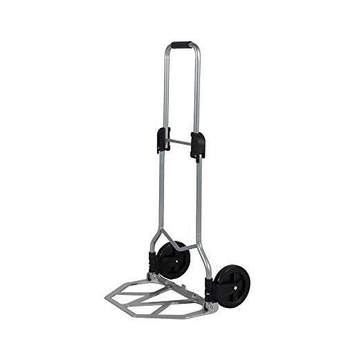 soges Carro de mano plegable con ruedas Carretilla de mano portátil Carrito de equipaje Carro compacto de utilidad con vendaje, Peso ligero, capacidad de 70 kg,KT-2021