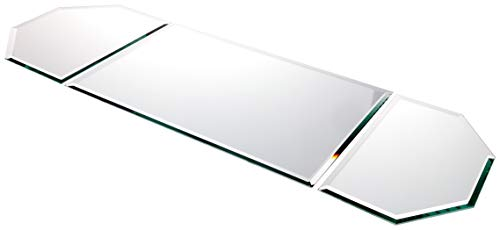 Plymor 5mm Beveled Glass Mirror Table Runner, 36x12