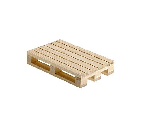 2 X MINI BANCALI LEGNO NATURALE VASSOIO MINI PALLET (S0201 cm.20x12x3,5h)