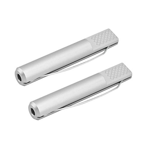 POWERTEC 71466 Aluminum Bench Dog 3/4-Inch x 4-3/8-Inch | Spring Loaded Hold Down for Workbenches – 2 Pack