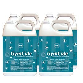 GymCide Concentrated Disinfectant & Spray Cleaner For Gym Equipment, Sport Helmets, Yoga Mats, Locker Rooms, and Physical Therapy Centers, Gallon (Case of 4)…