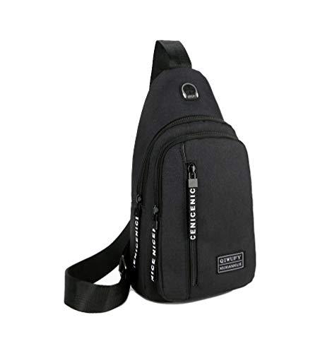 Small Sling Bag Crossbody Chest Shoulder Water Resistant Travel Bag for Men Women Boys With Earphone...